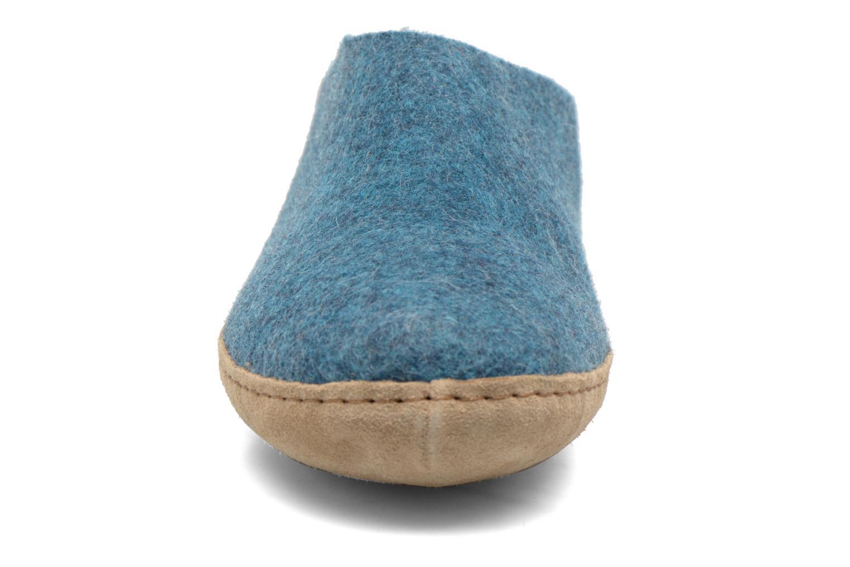 Pantuflas Glerups Piras M Azul vista del modelo