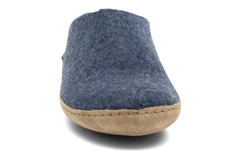 Chaussons Glerups Piras M Bleu vue portées chaussures