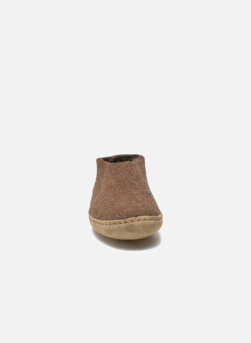 Chaussons Glerups Porter W Marron vue portées chaussures