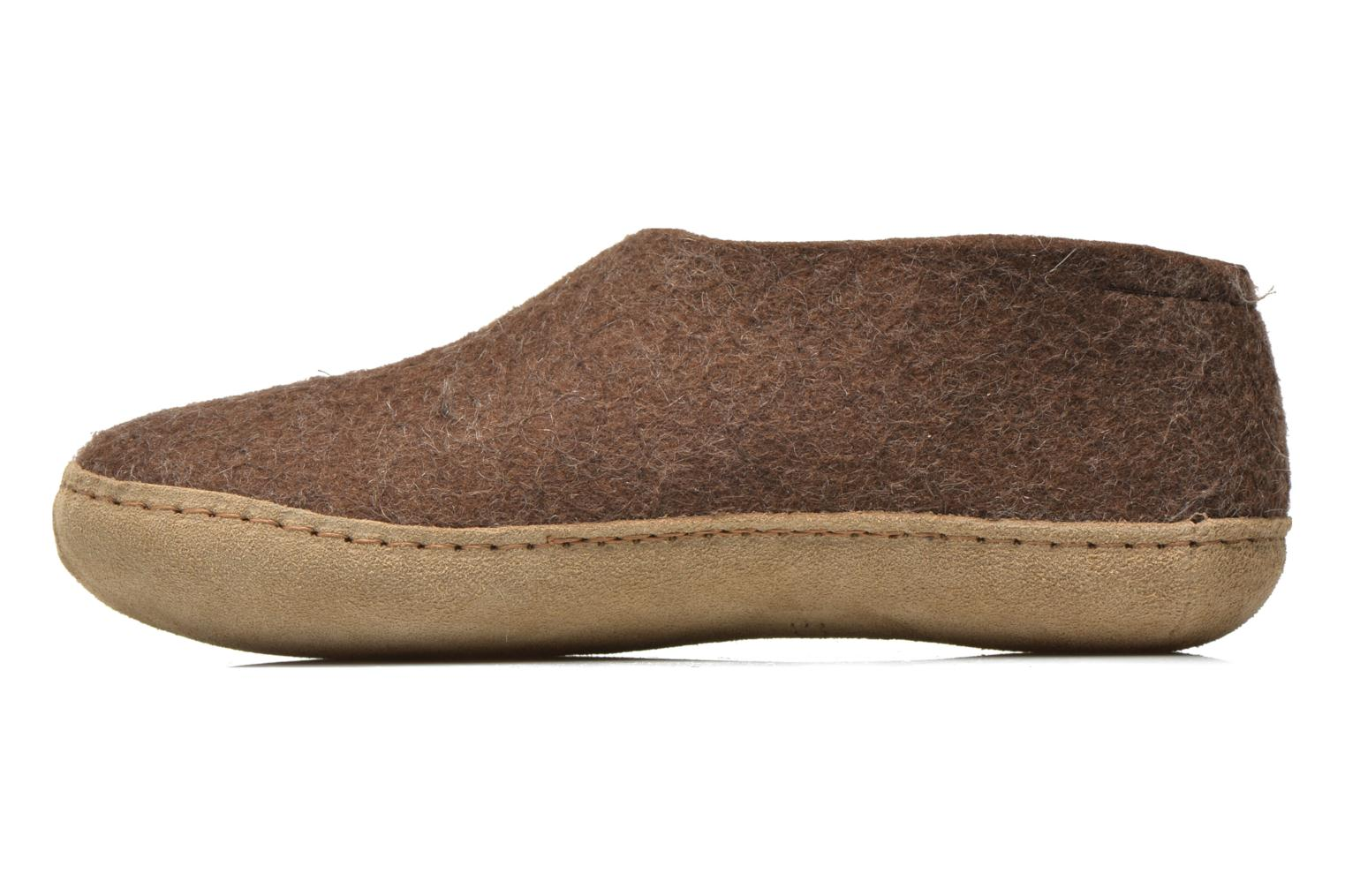Slippers Glerups Porter W Brown front view