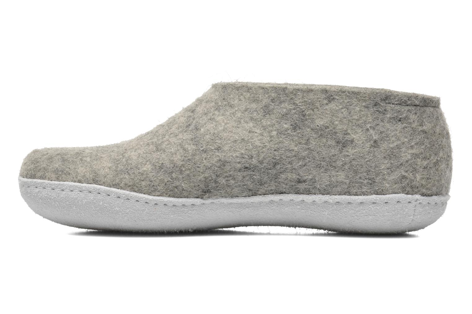 Chaussons Glerups Porter M Gris vue face