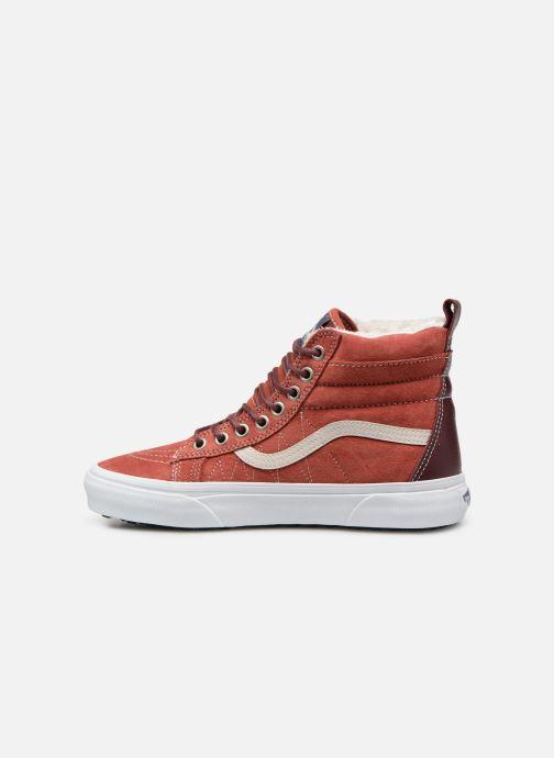 Baskets Vans SK8-Hi MTE W Rouge vue face