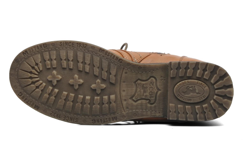 Bottines et boots Mustang shoes Bigz Marron vue haut