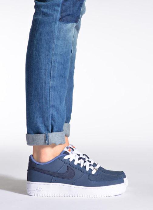 Sneaker Nike Air Force 1 (Gs) schwarz ansicht von unten / tasche getragen