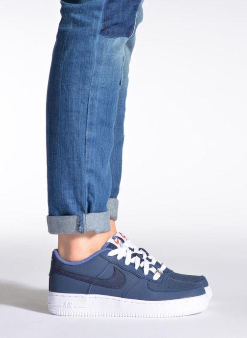 Sneaker Nike Air Force 1 (Gs) weiß ansicht von unten / tasche getragen