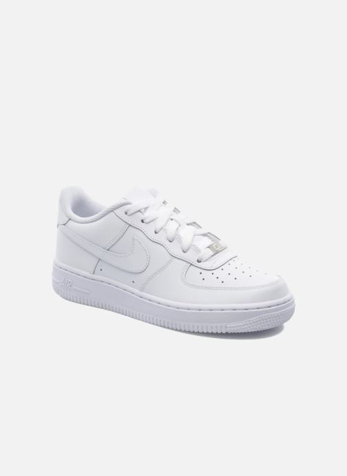 Baskets Nike Air Force 1 (Gs) Blanc vue détail/paire