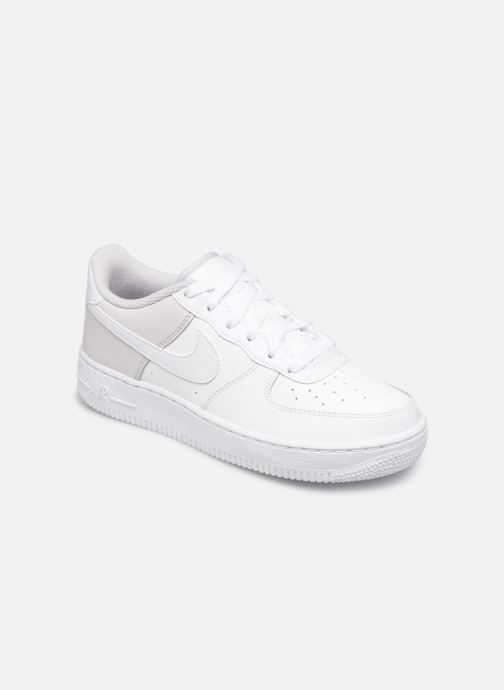 Baskets Nike Air Force 1 (Gs) Blanc vue détail/paire