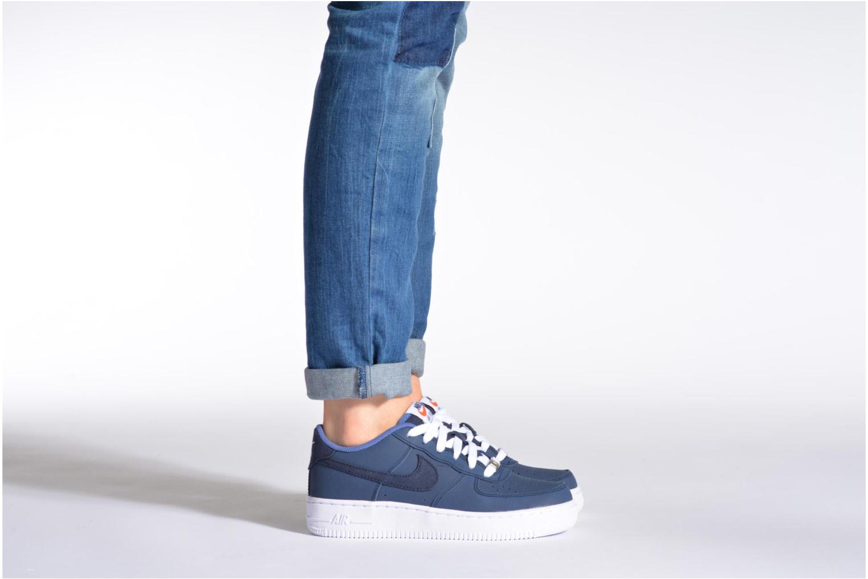 Baskets Nike Air Force 1 (Gs) Bleu vue bas / vue portée sac