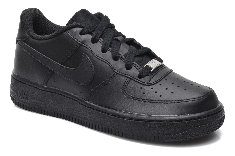 the best attitude 97fea c3f47 Sneakers Nike Air Force 1 (Gs) Svart detaljerad bild på paret