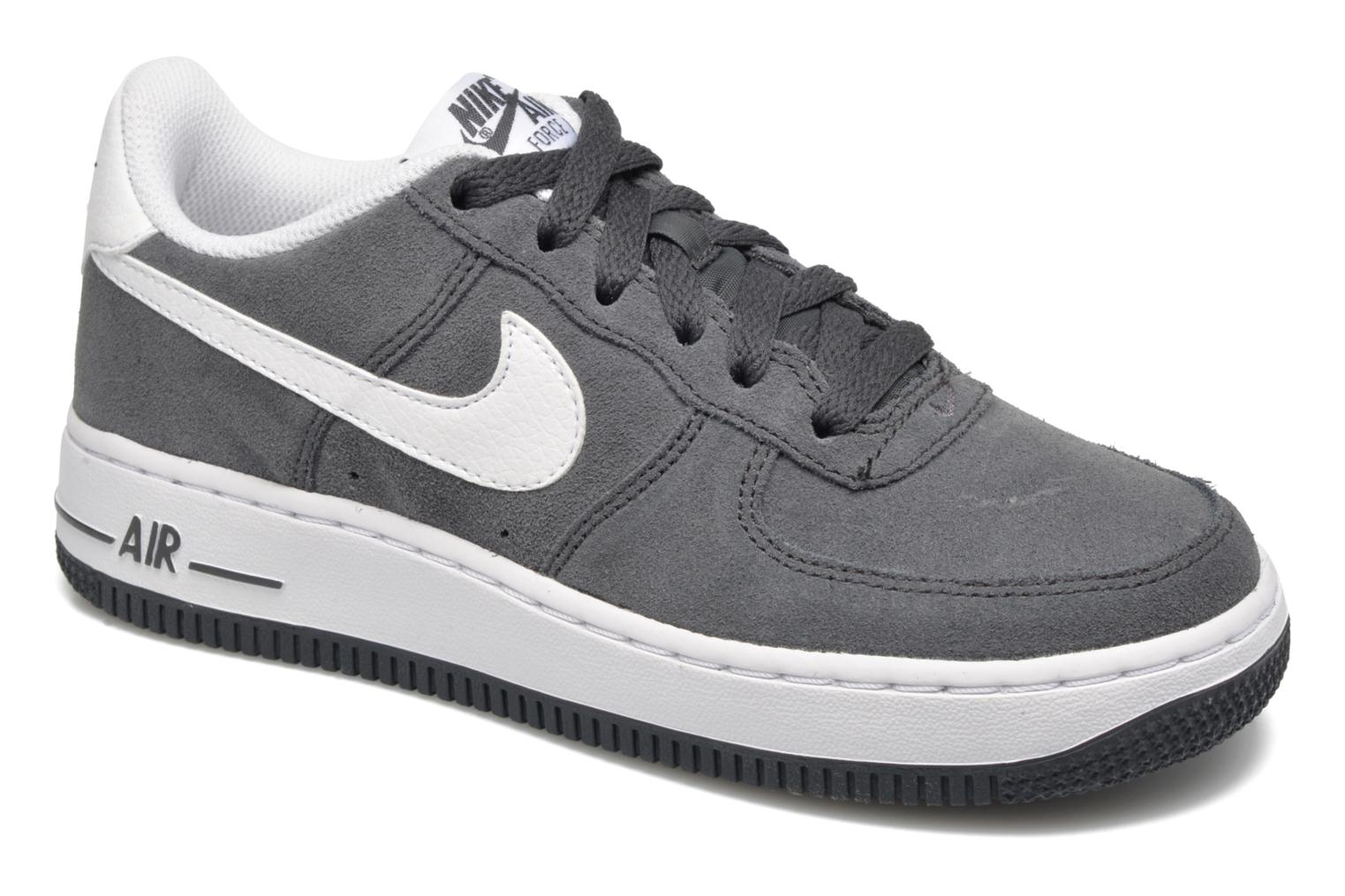 Baskets Nike Air Force 1 (Gs) Gris vue détail/paire