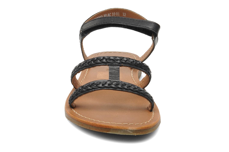 Sandalen Kickers Djerry V schwarz schuhe getragen