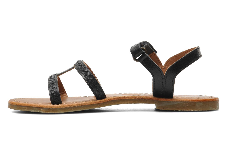 Sandalen Kickers Djerry V schwarz ansicht von vorne