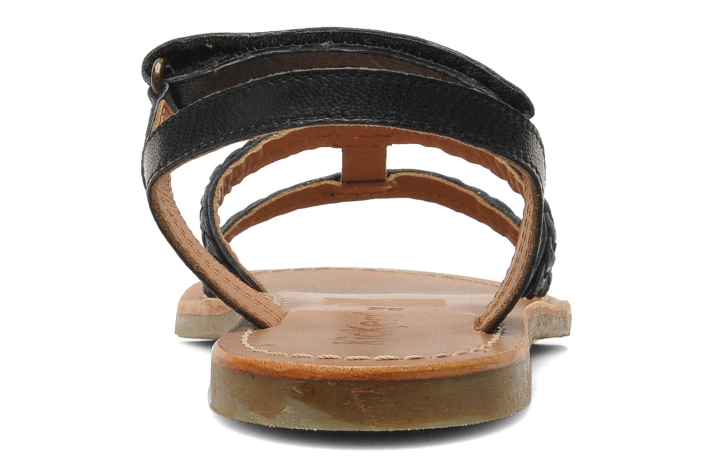 Sandalen Kickers Djerry V schwarz ansicht von rechts