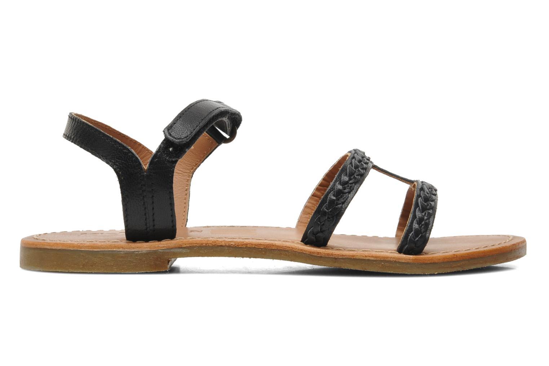 Sandalen Kickers Djerry V schwarz ansicht von hinten