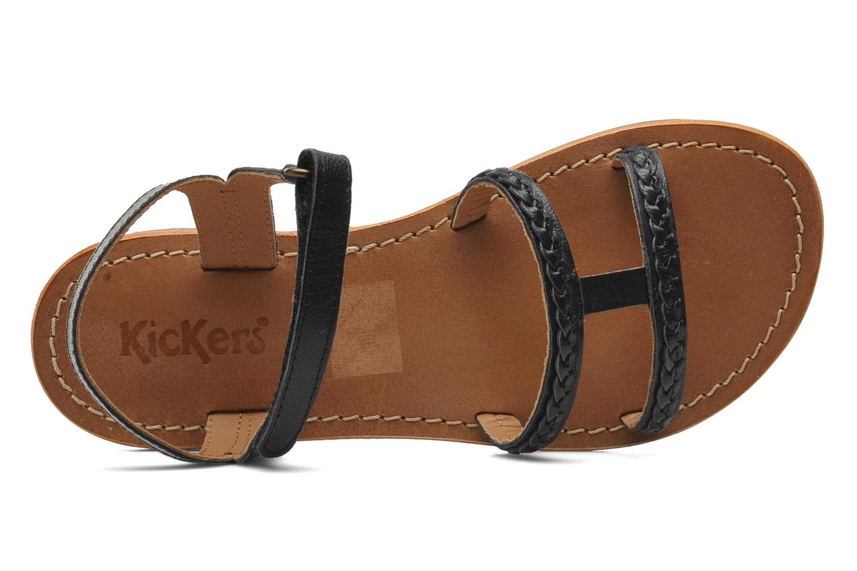 Sandalen Kickers Djerry V schwarz ansicht von links
