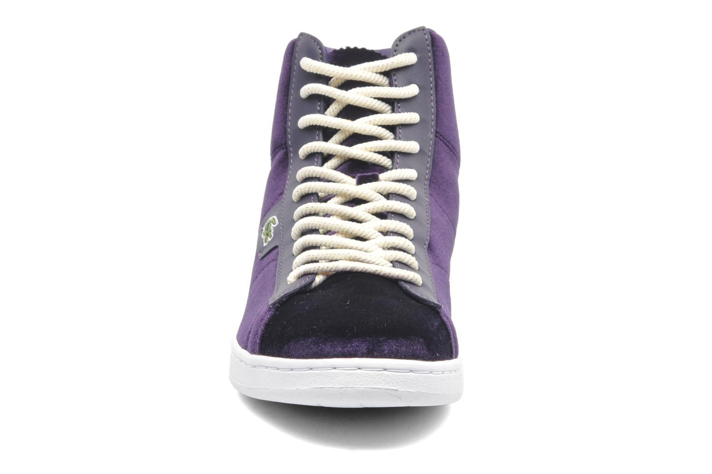 Baskets Lacoste Broadwick Hi Wa Violet vue portées chaussures