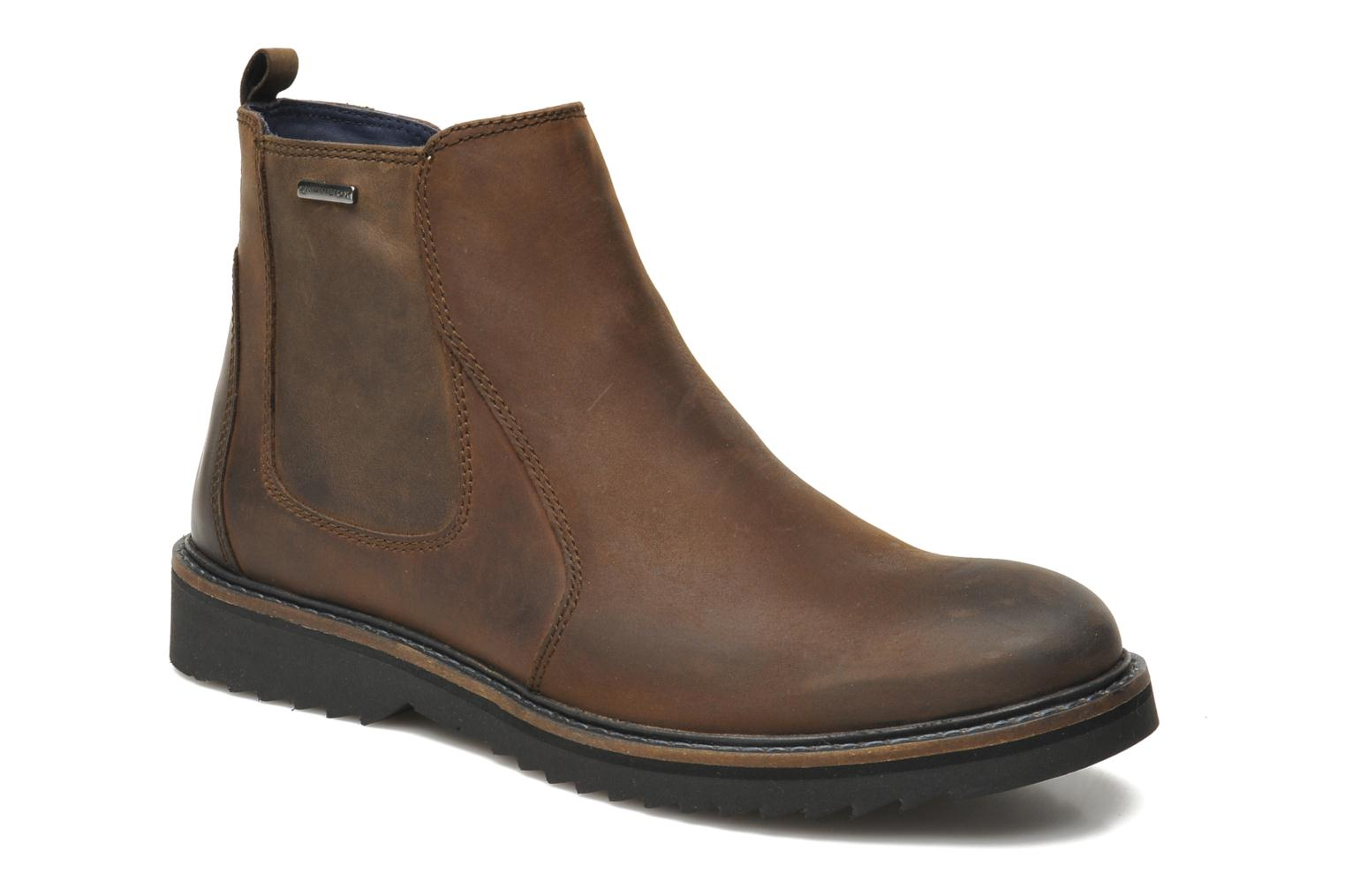 Ankle boots Geox U CHESTER ABX U44T5D Brown detailed view/ Pair view