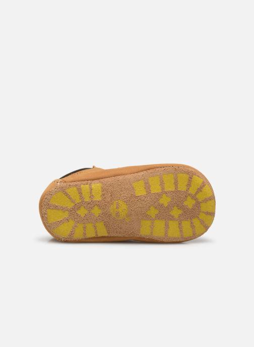 Pantuflas Timberland Crib Bootie with Hat Beige vista de arriba