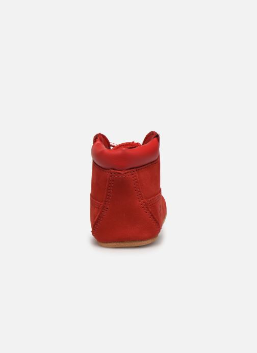Pantuflas Timberland Crib Bootie with Hat Rojo vista lateral derecha