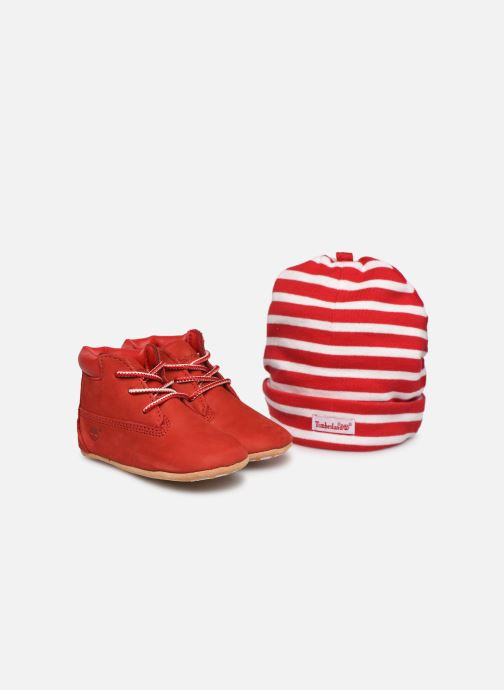 Chaussons Timberland Crib Bootie with Hat Rouge vue détail/paire