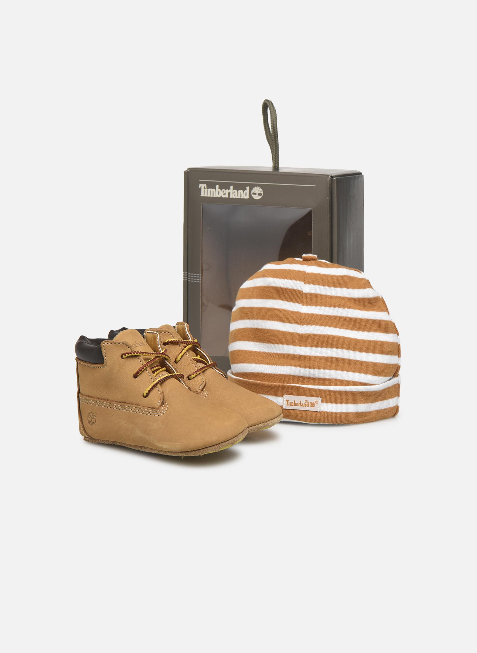 Hausschuhe Timberland Crib Bootie with Hat beige detaillierte ansicht/modell