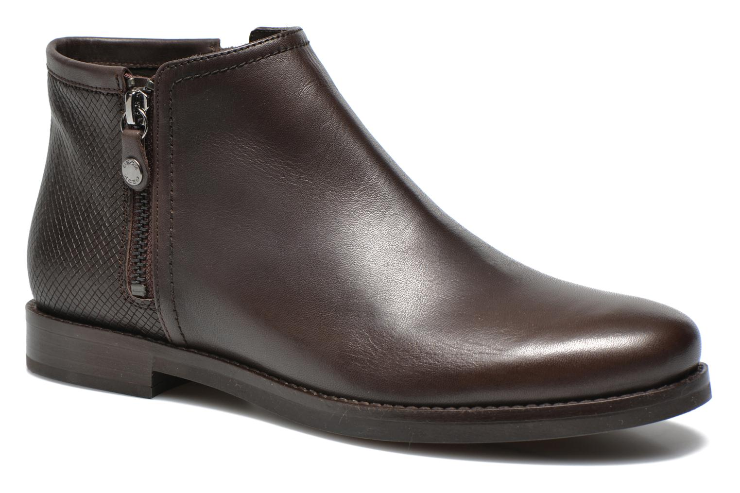 Ankle boots Geox D PROMETHEA F D44R3F Brown detailed view/ Pair view