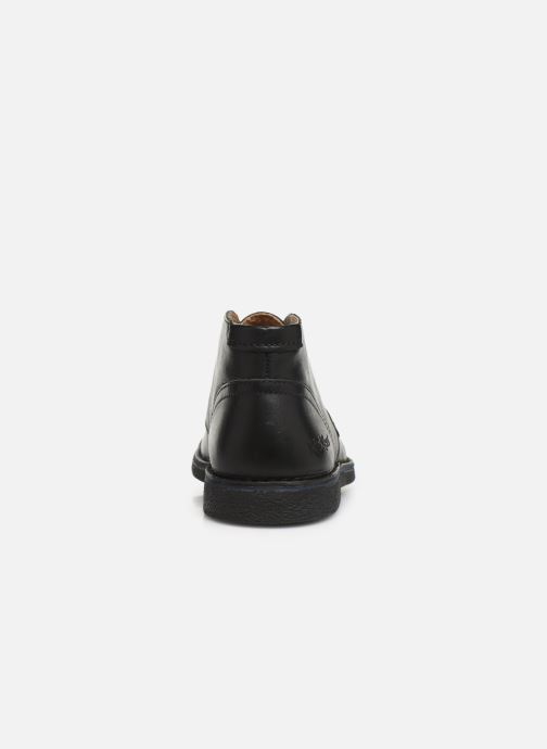 Zapatos con cordones Kickers Mistic Negro vista lateral derecha