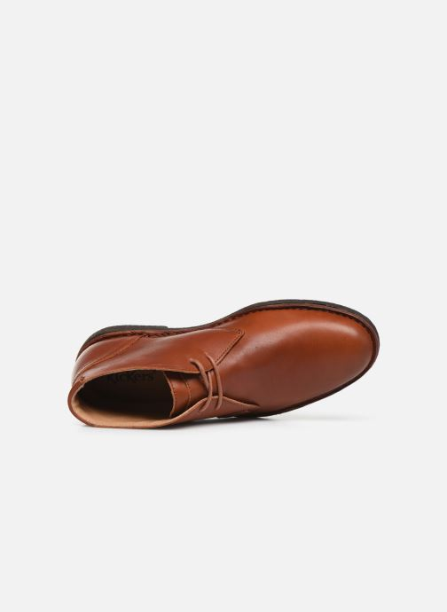 Zapatos con cordones Kickers Mistic Marrón vista lateral izquierda