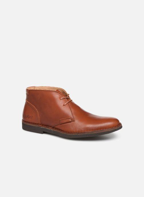 Snøresko Kickers Mistic Brun detaljeret billede af skoene