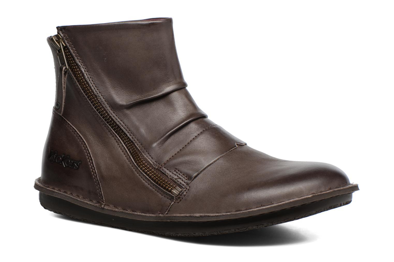 Bottines et boots Kickers Waouh Marron vue détail/paire