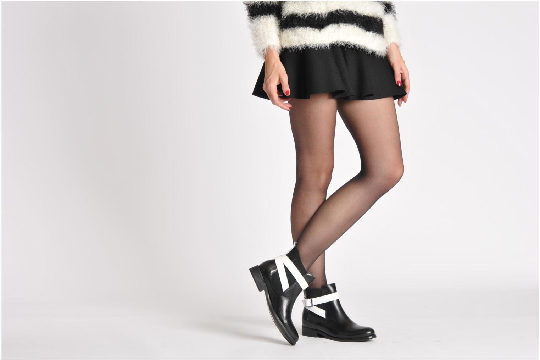 Bottines et boots Pieces Izi Noir vue bas / vue portée sac