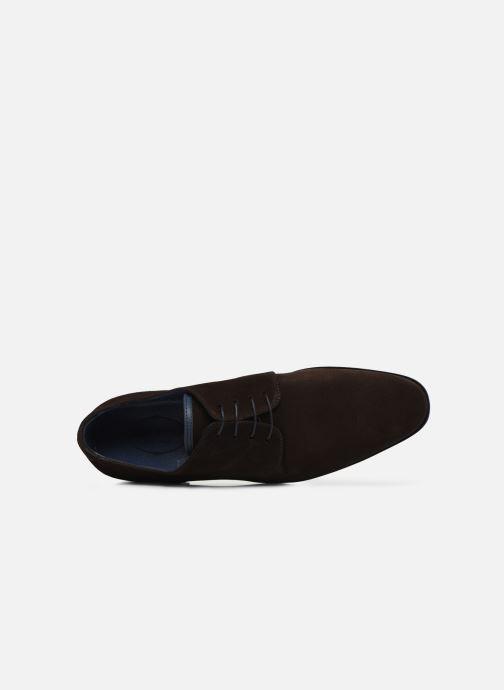 Zapatos con cordones Brett & Sons Bari Marrón vista lateral izquierda