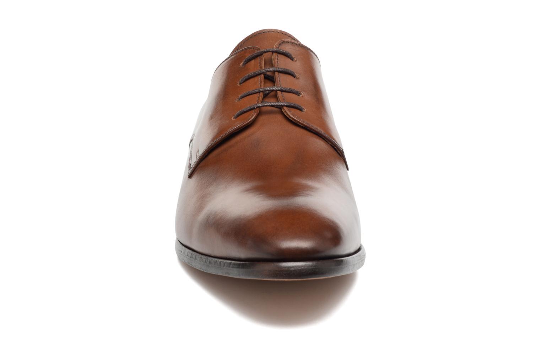 Schnürschuhe Brett & Sons Bari braun schuhe getragen