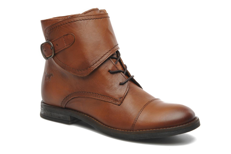 Ankelstøvler Mustang shoes Ildys Brun detaljeret billede af skoene