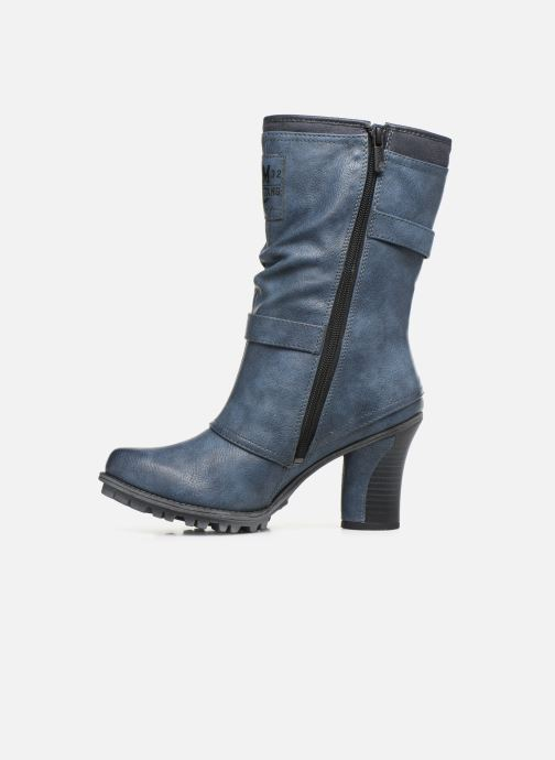 Bottines et boots Mustang shoes Lazlo Bleu vue face
