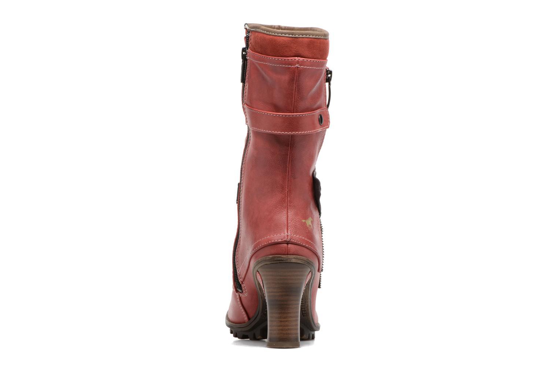 Boots en enkellaarsjes Mustang shoes Lazlo Rood rechts