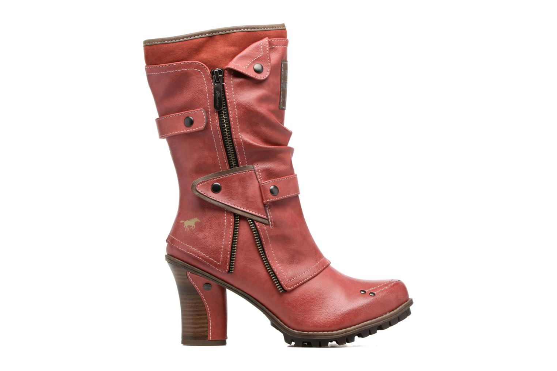 Boots en enkellaarsjes Mustang shoes Lazlo Rood achterkant