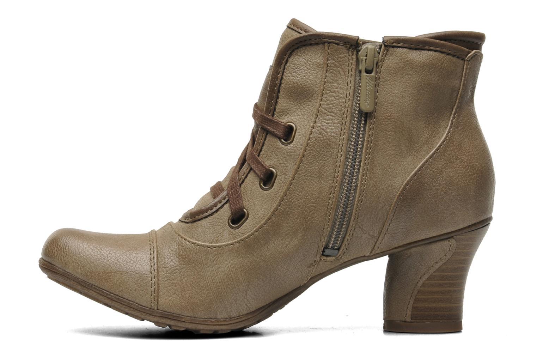 Boots en enkellaarsjes Mustang shoes Ibline Beige voorkant
