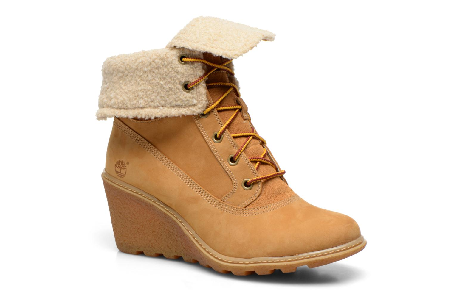 Bottines et boots Timberland Earthkeepers Amston Roll-Top Beige vue détail/paire