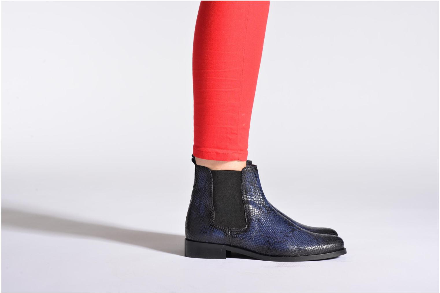 Ankle boots PintoDiBlu Broche Blue view from underneath / model view