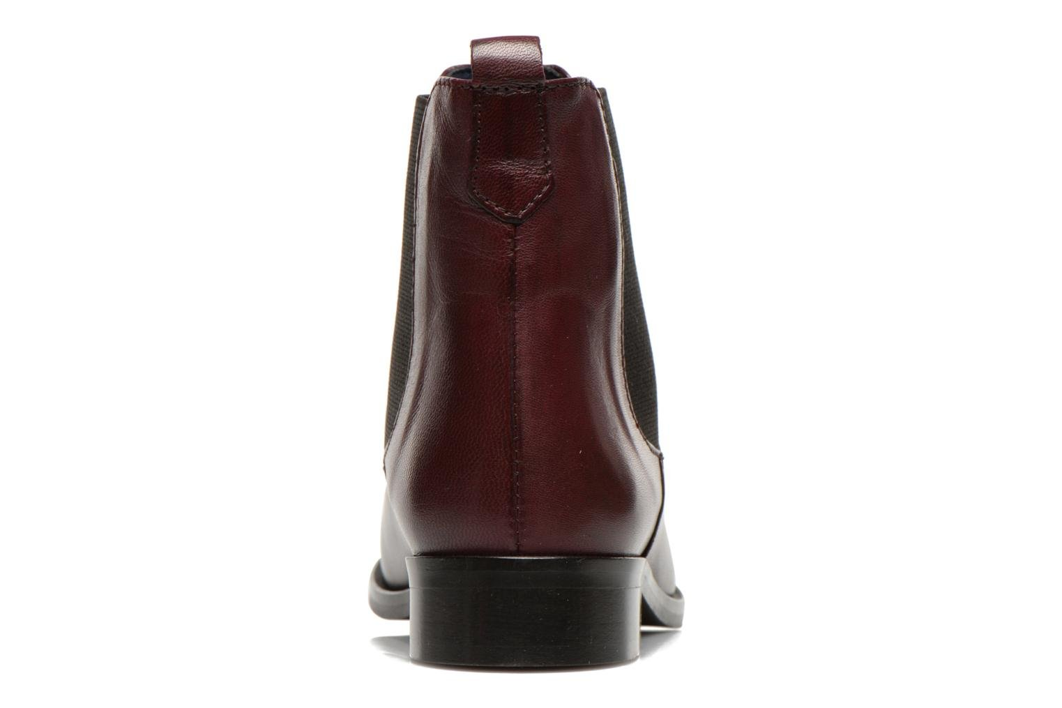 Ankle boots PintoDiBlu Broche Burgundy view from the right