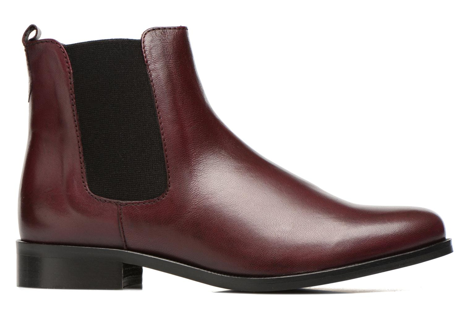 Ankle boots PintoDiBlu Broche Burgundy back view