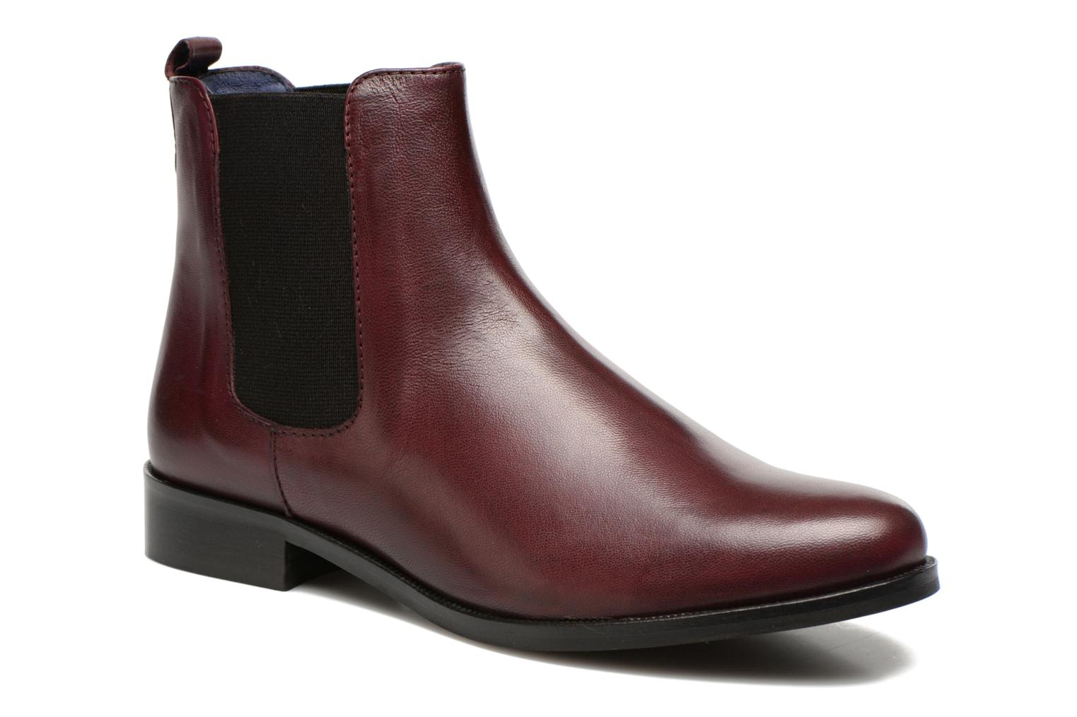 Ankle boots PintoDiBlu Broche Burgundy detailed view/ Pair view