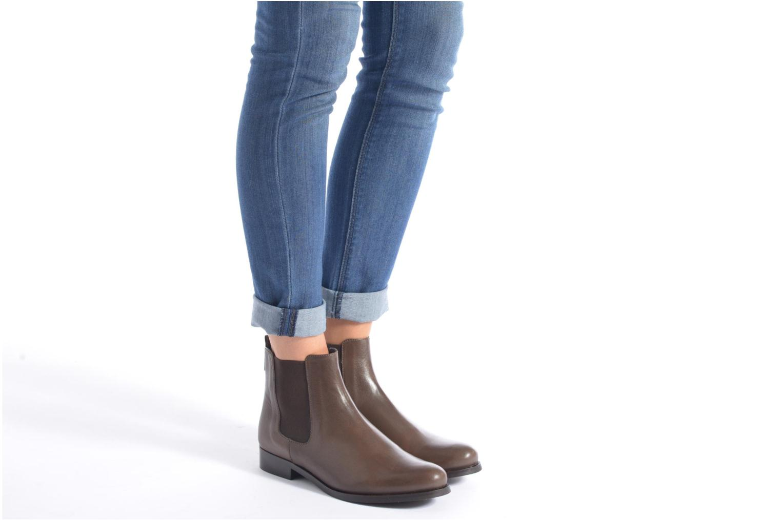 Ankle boots PintoDiBlu Broche Brown view from underneath / model view