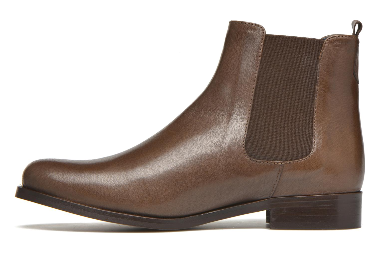 Ankle boots PintoDiBlu Broche Brown front view