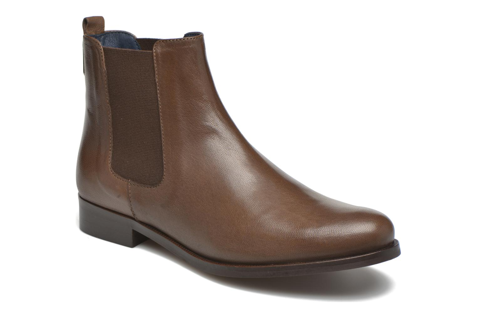 Ankle boots PintoDiBlu Broche Brown detailed view/ Pair view