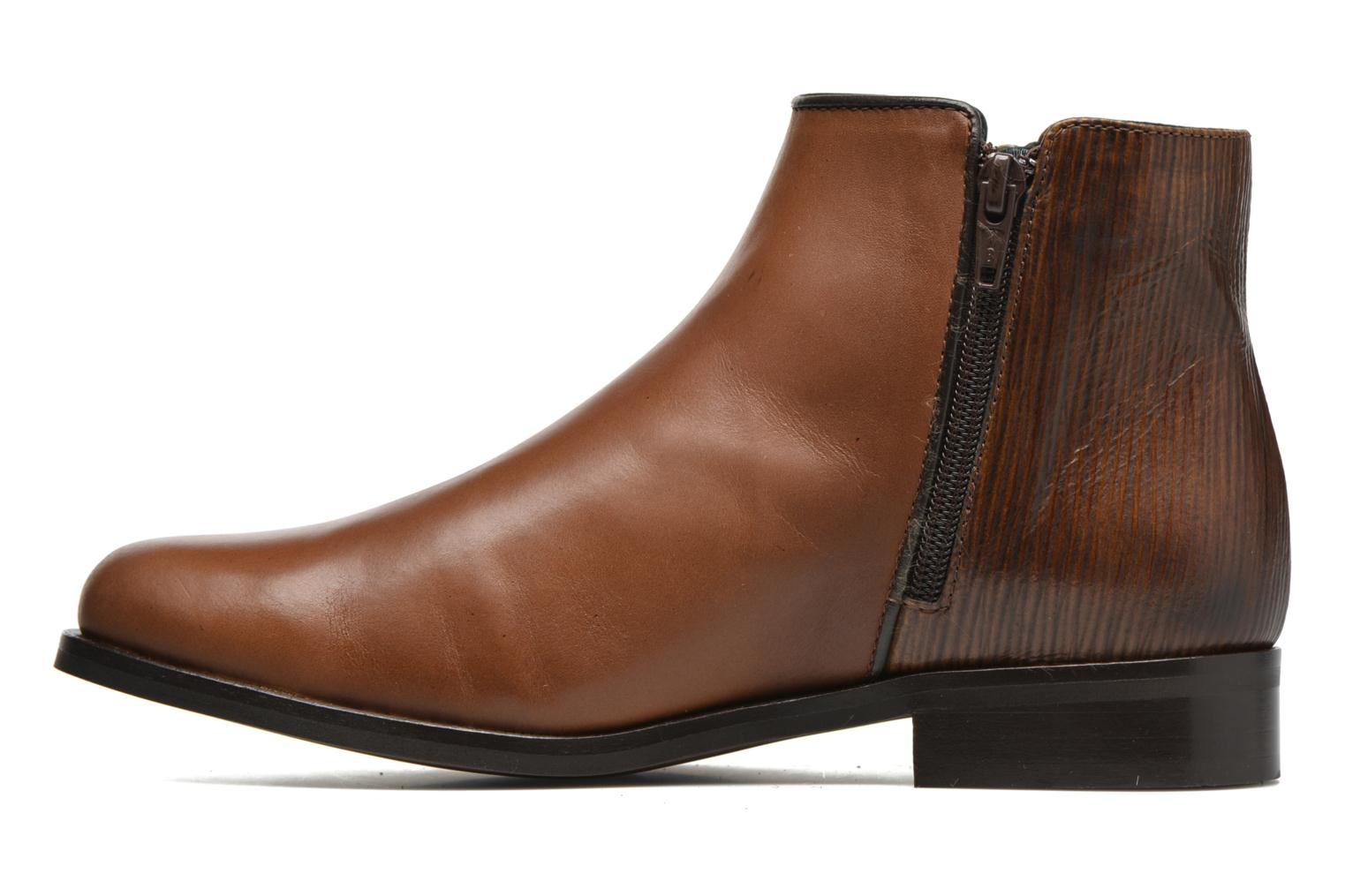 Ankle boots PintoDiBlu Marmara Brown front view