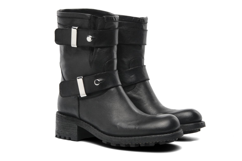 Bottines et boots Free Lance Biker 4 Ministrap Buckle Noir vue 3/4