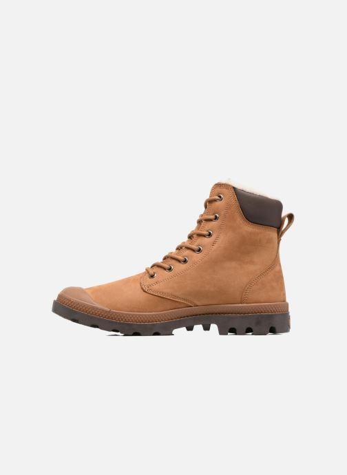 Boots en enkellaarsjes Palladium Pampa Sport Wps Bruin voorkant