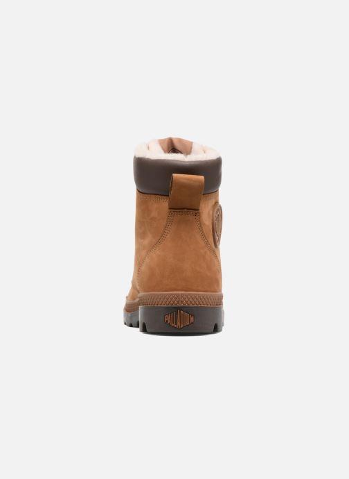 Bottines et boots Palladium Pampa Sport Wps Marron vue droite